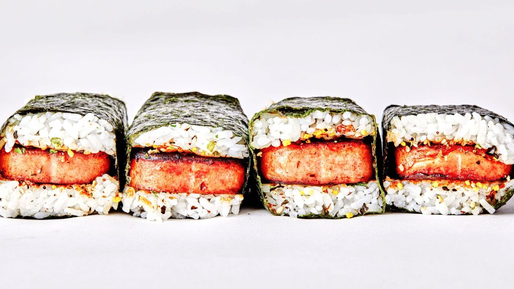 A close up of sushi  Description automatically generated